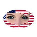 US Blonde American Beauty 20x12 Oval Wall Decal