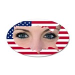 US Blonde American Beauty 35x21 Oval Wall Decal