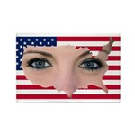 US Blonde American Beauty Rectangle Magnet