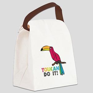 Toucan Do It Canvas Lunch Bag
