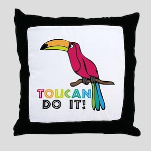 Toucan Do It Throw Pillow
