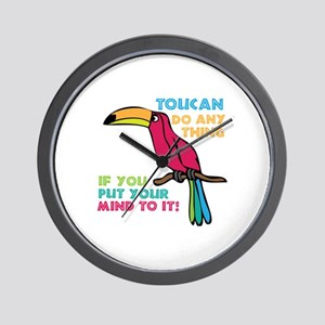 Toucan Do Anything Wall Clock