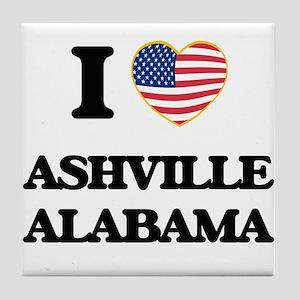 I love Ashville Alabama USA Design Tile Coaster