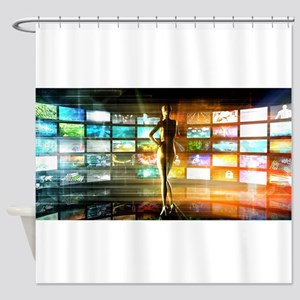 Media Technologies Shower Curtain