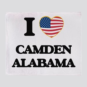 I love Camden Alabama USA Design Throw Blanket