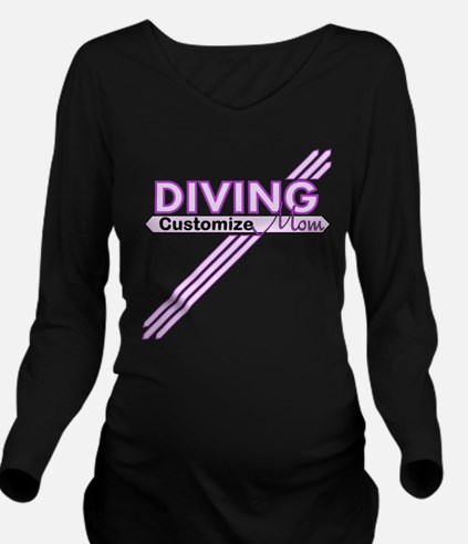 Diving Mom Long Sleeve Maternity T-Shirt