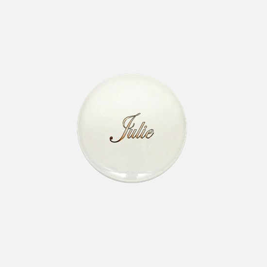 Gold Julie Mini Button