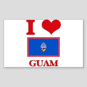 I Love Guam Sticker
