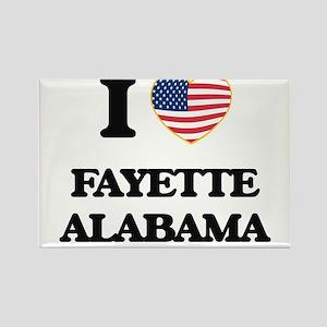 I love Fayette Alabama USA Design Magnets