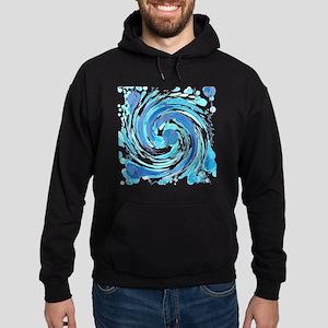 Blue Wormhole Hoodie (dark)