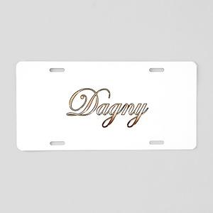 Gold Dagny Aluminum License Plate