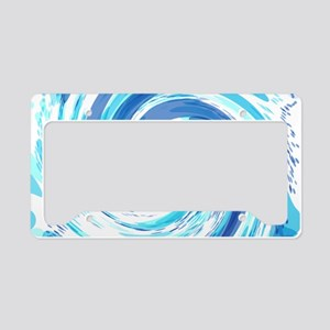 Blue Wormhole License Plate Holder