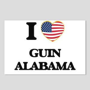 I love Guin Alabama USA D Postcards (Package of 8)