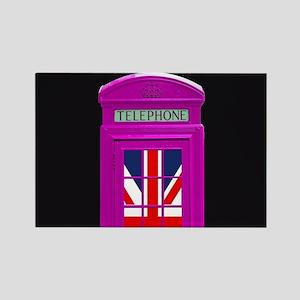 Pink! London phone box Magnets