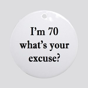 70 your excuse 3 Ornament (Round)