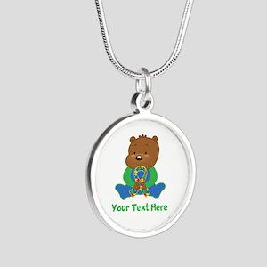 Autism Puzzle Ribbon Bear Necklaces