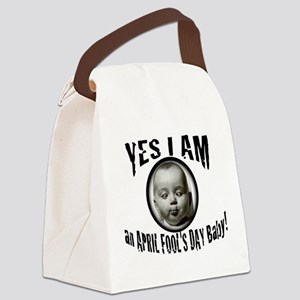 April Fool's Day Birthday Baby Canvas Lunch Bag