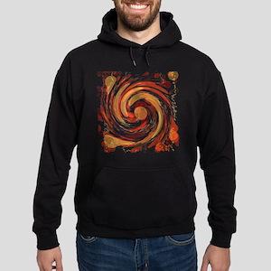 Red Wormhole Hoodie (dark)