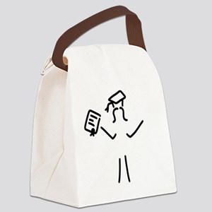 woman happy about doctor hat Canvas Lunch Bag