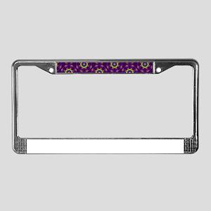 Diamond Purple Stars License Plate Frame