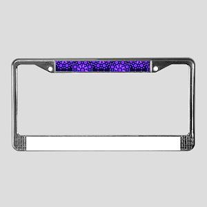 Diamond Blue Stars License Plate Frame