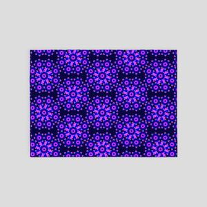 Diamond Blue Stars 5'x7'Area Rug