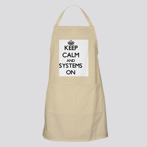 Keep Calm and Systems ON Apron