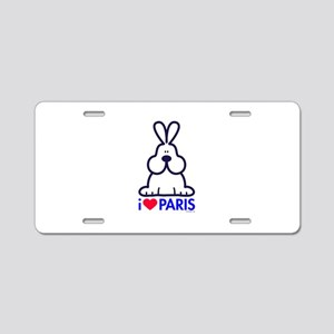 14 love Paris Aluminum License Plate