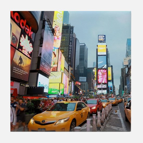 Times Square New York City Pro Photo Tile Coaster