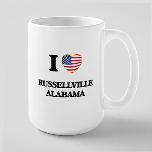 I love Russellville Alabama USA Design Mugs