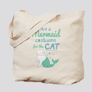 Modern Family Mermaid Cat Tote Bag