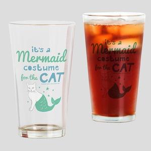 Modern Family Mermaid Cat Drinking Glass