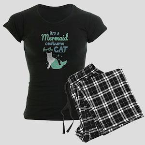 Modern Family Mermaid Cat Women's Dark Pajamas