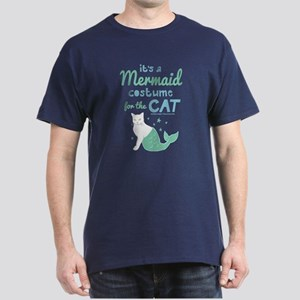 Modern Family Mermaid Cat Dark T-Shirt