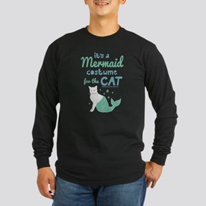 Modern Family Mermaid Cat Long Sleeve Dark T-Shirt