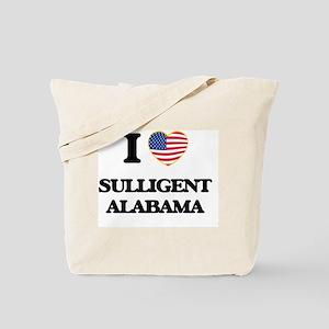 I love Sulligent Alabama USA Design Tote Bag