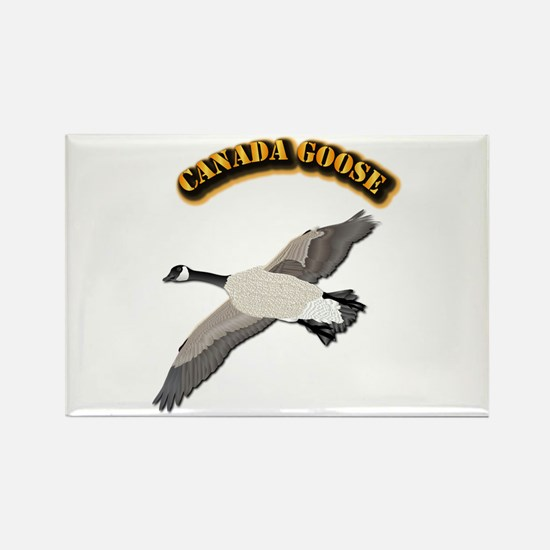 Canada goose-w Text Rectangle Magnet