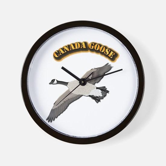 Canada goose-w Text Wall Clock