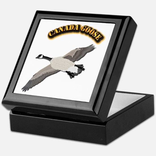 Canada goose-w Text Keepsake Box