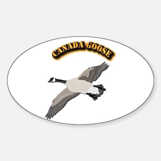 Canada goose-w Text Sticker (Oval)
