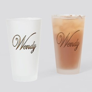 Gold Wendy Drinking Glass