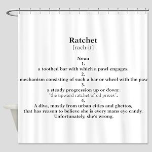 ratchet Shower Curtain