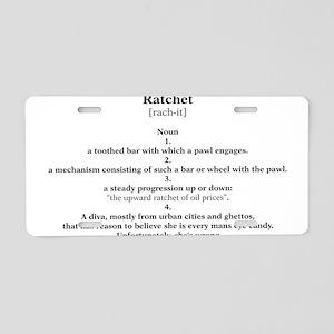 ratchet Aluminum License Plate