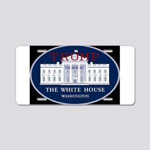 TRUMP WHITE HOUSE Aluminum License Plate