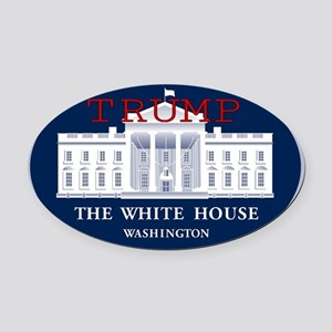 TRUMP WHITE HOUSE Oval Car Magnet