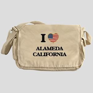 I love Alameda California USA Design Messenger Bag