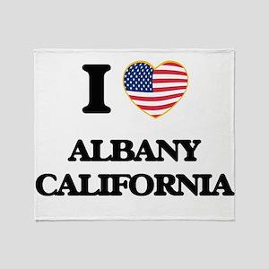 I love Albany California USA Design Throw Blanket