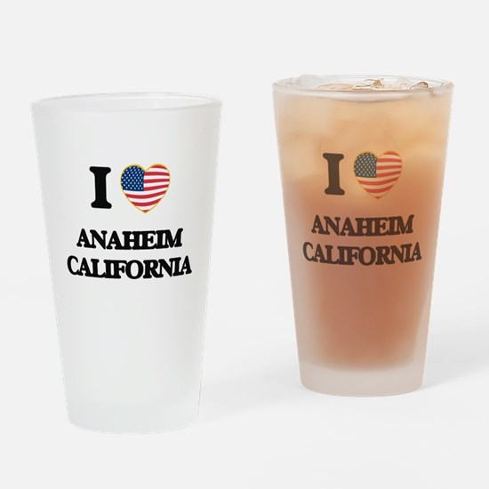 I love Anaheim California USA Desig Drinking Glass
