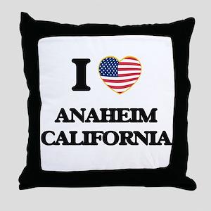I love Anaheim California USA Design Throw Pillow