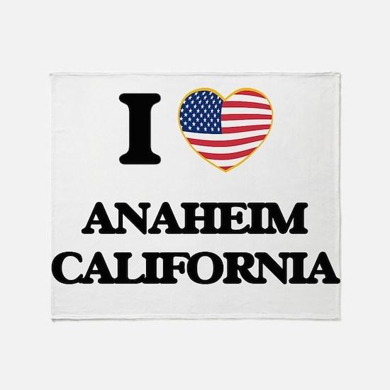 I love Anaheim California USA Design Throw Blanket